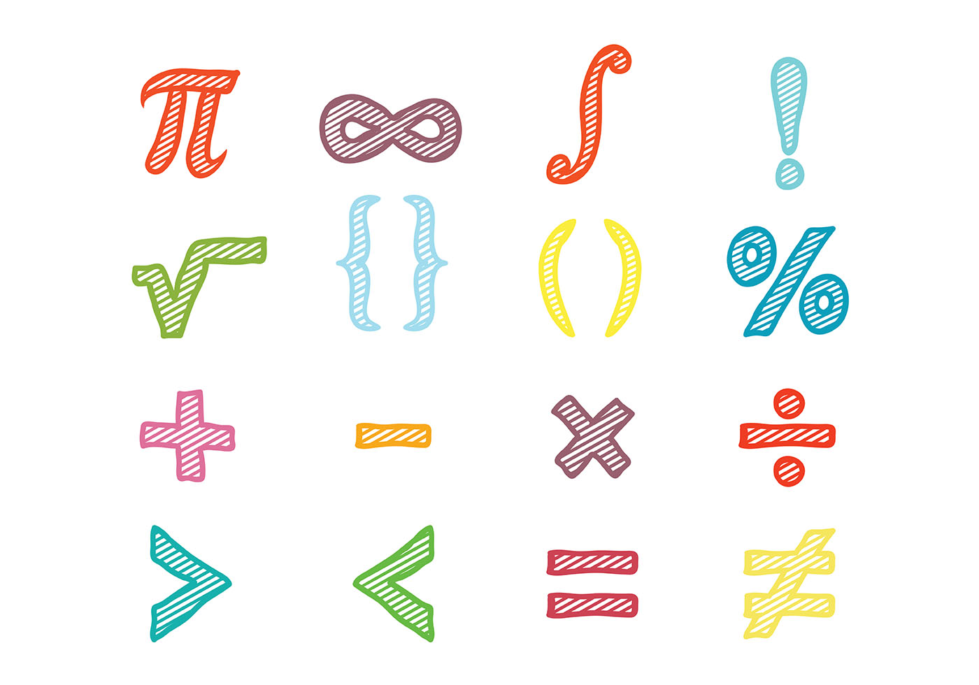 Math symbols vector download free vector art stock graphics images buycottarizona Image collections