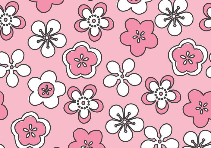 Rosa Blomningar Mönster vektor