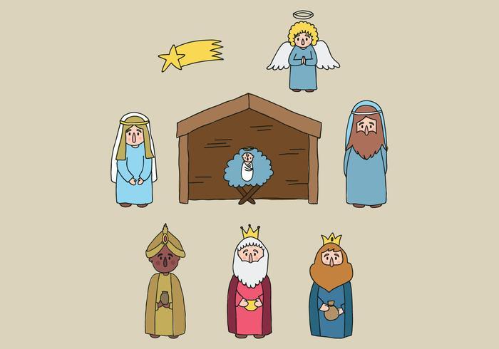 Vettori dei personaggi dell'Epifania
