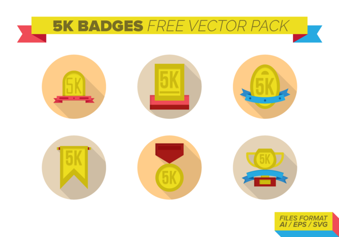 5k badges Gratis Vector Pack