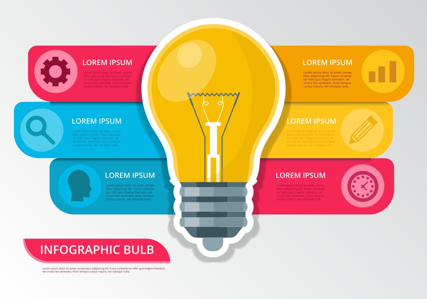 Bulb Idea Infographic Vector - Download Free Vector Art ...
