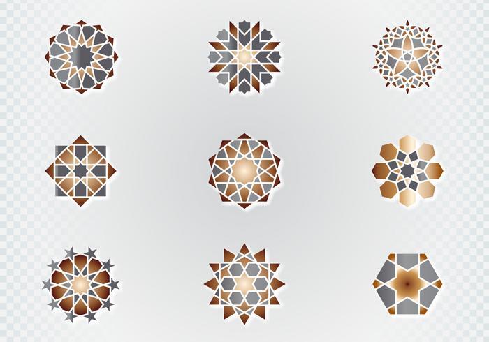 Símbolos ornamentales árabes vector