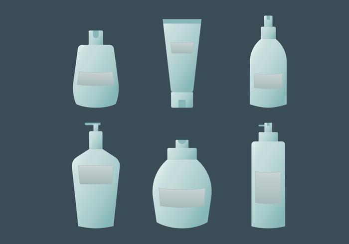 Azul vetores de embalagens de cosméticos