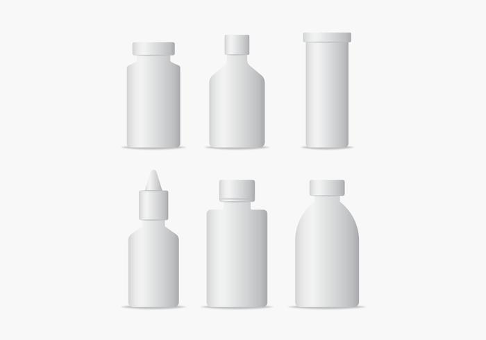 Medical Bottles Packaging Vectors