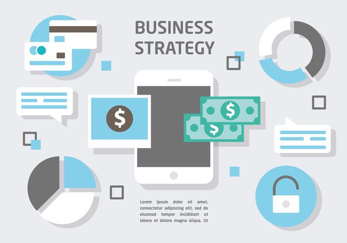 Free Flat Digital Marketing Vector Illustration