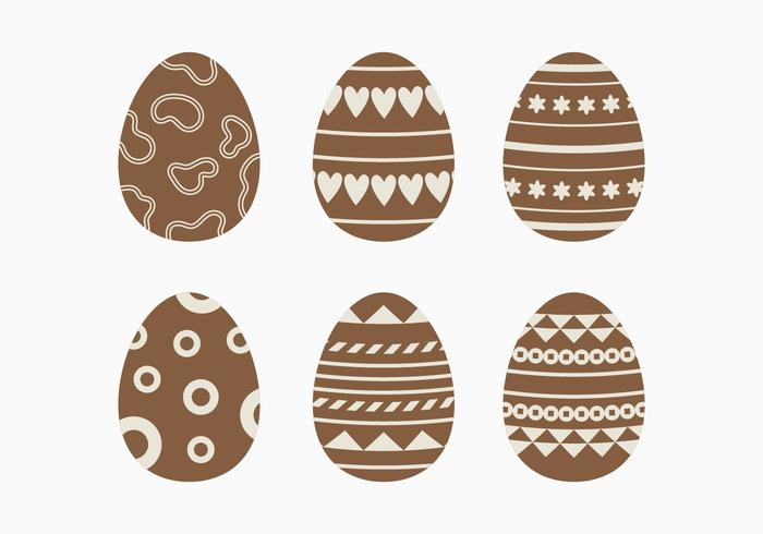 Dark Chocolate Easter Egg Collection vector