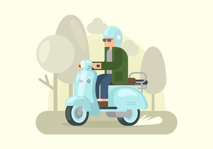 Robin Egg Blue Lambretta Illustration