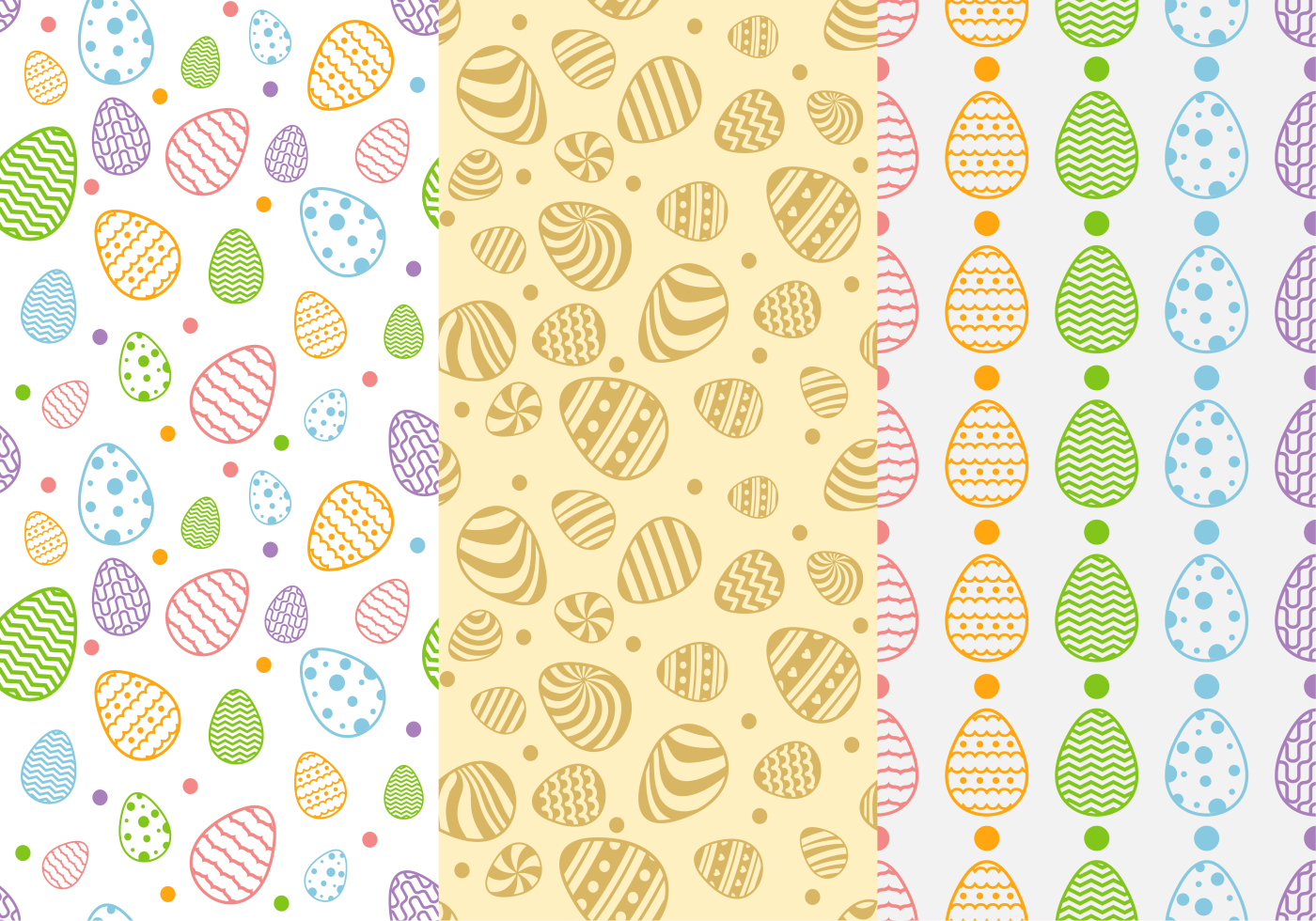 Easter Pattern Free Vector Art