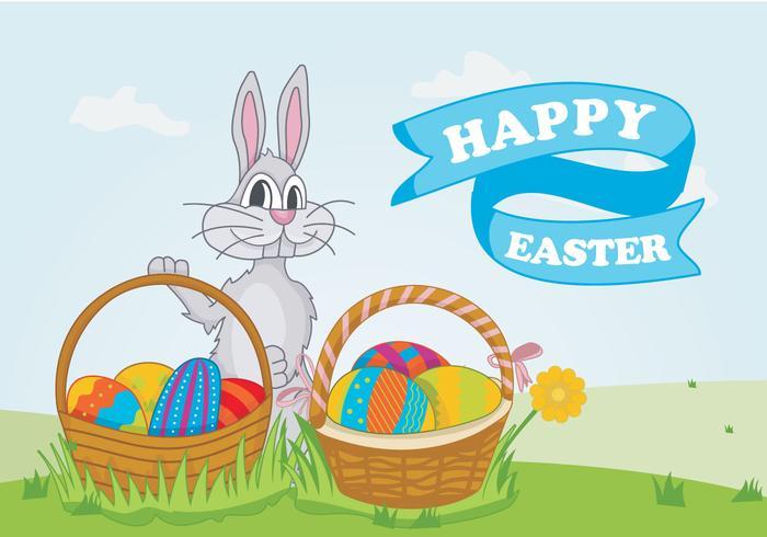 Colorful Easter Egg Pattern Vector Illustration