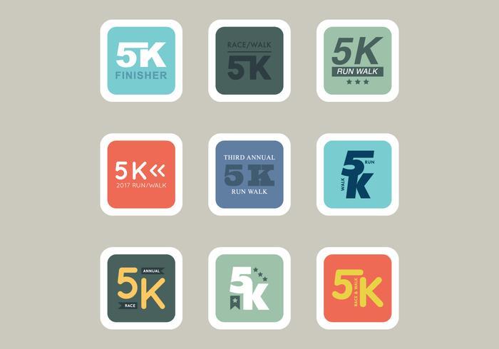 5K Races Icons