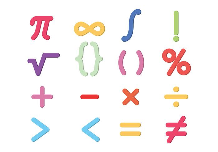 Math Symbols Vector Download Free Vector Art Stock Graphics Images