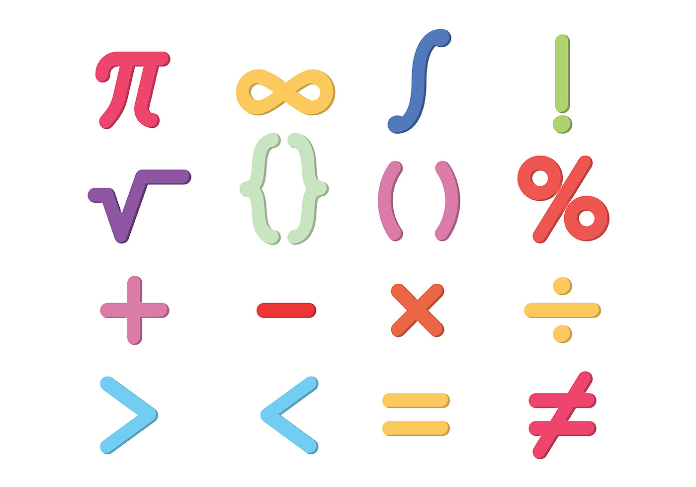 Math Symbols Vector - Download Free Vector Art, Stock ...