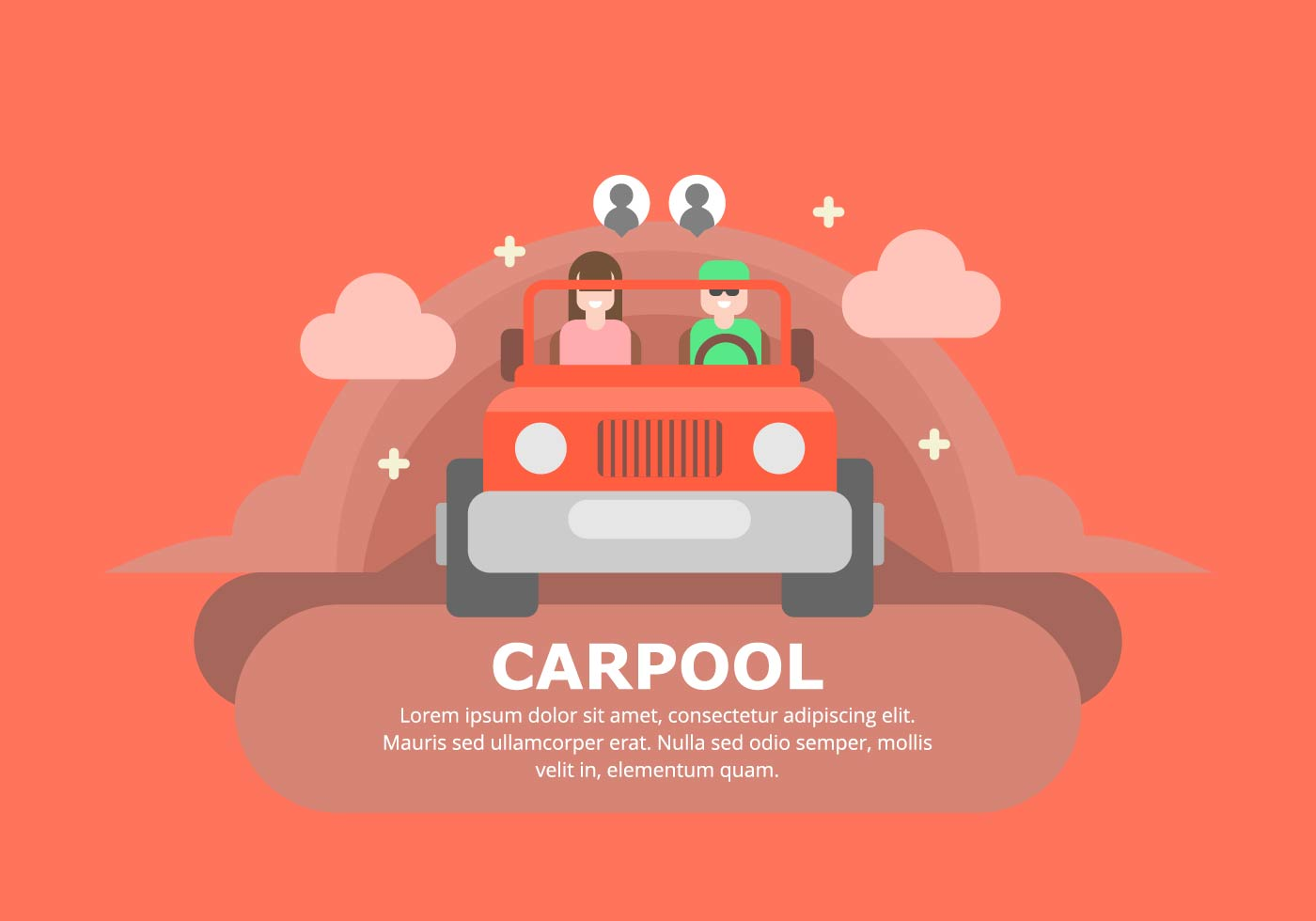 Carpool Background Download Free Vector Art Stock
