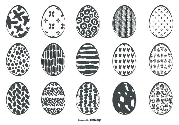 Cute Sketchy Easter Egg Collection