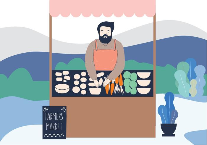 Veggie Market Illustration