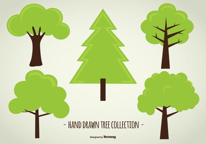 Mão bonito Drawn coleção da árvore
