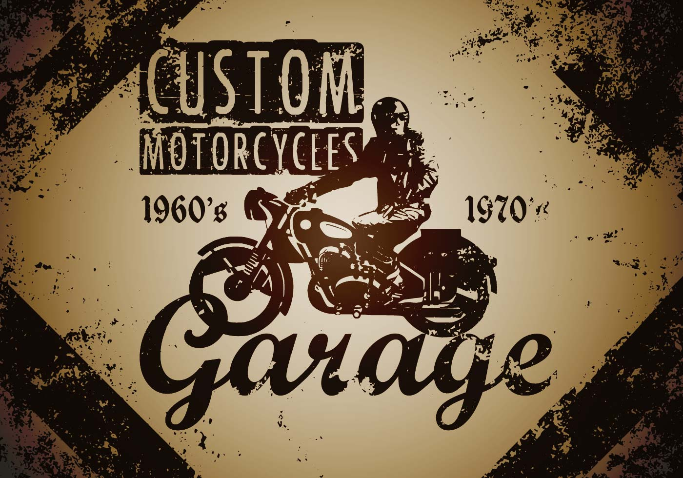Motorcycle Silhouette Free Vector Art 9808 Free Downloads