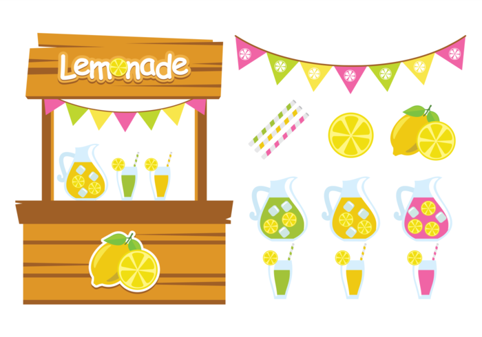 Cute Lemonade Stand Vectors