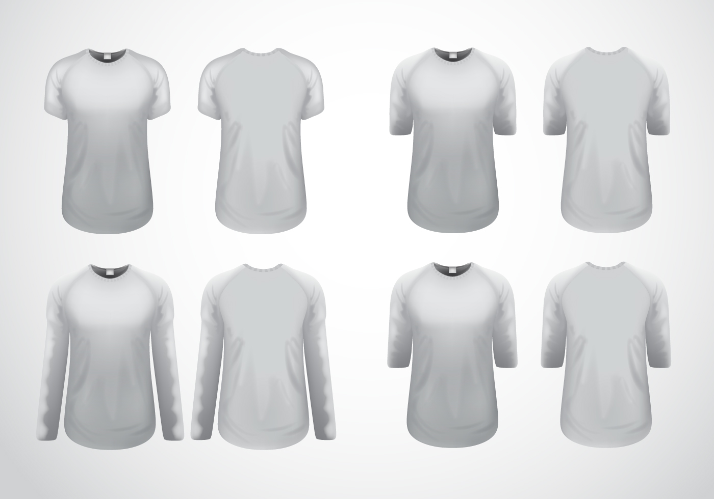 Raglan T-Shirt Template Vector - Download Free Vector Art, Stock ...