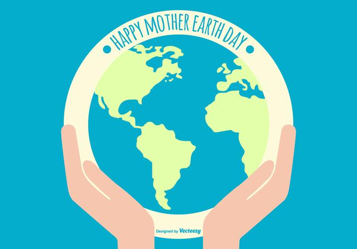 Flat Happy Earth Day Illustration
