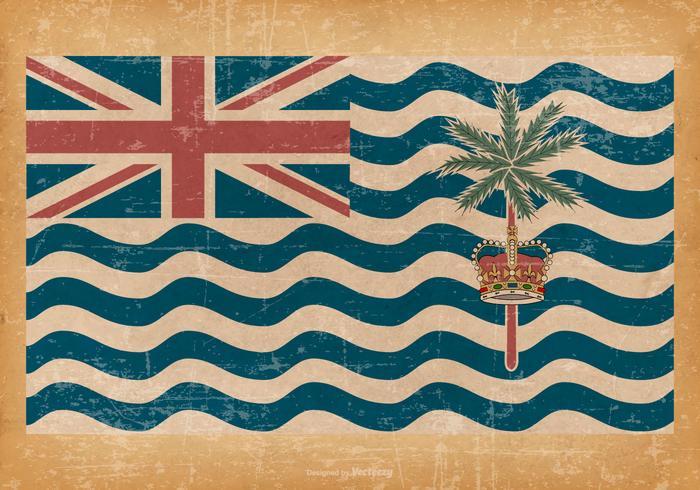 British Indian Ocean Territory Grunge Flag