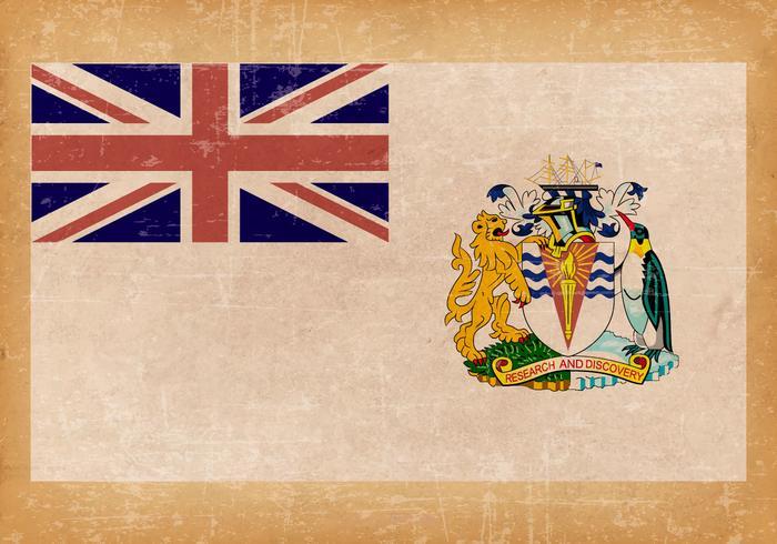 British Antarctic Territory Grunge Flag