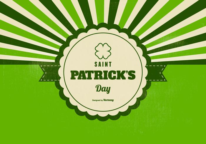 Retro Saint Patricks Day Background