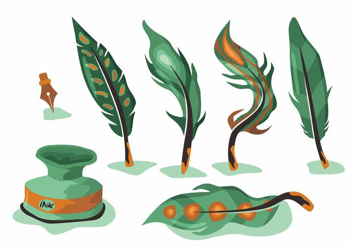 Green Pluma Vector Set
