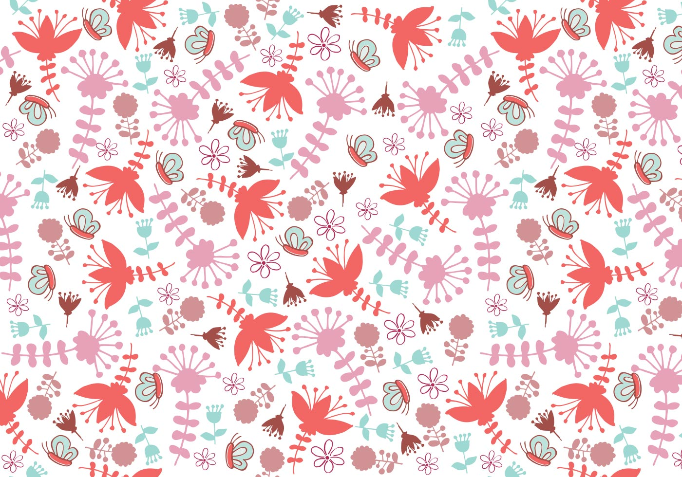 whimsical floral illustrator pattern
