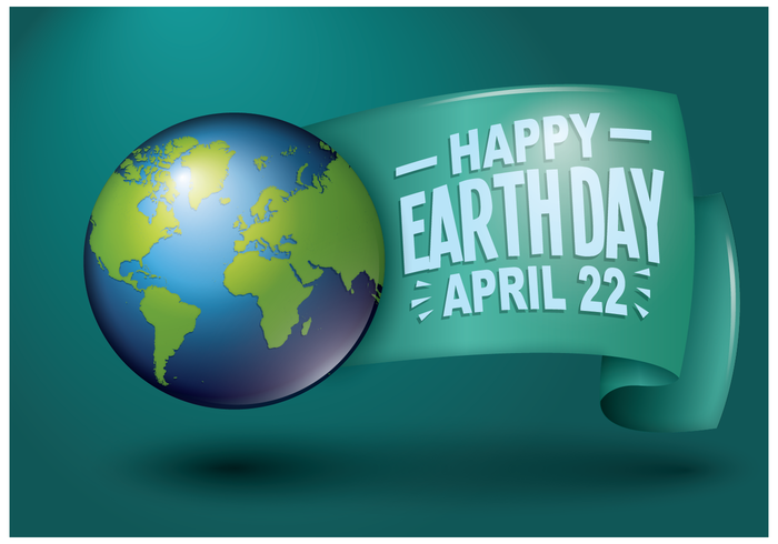 Gratis Earth Day groet illustratie Vector