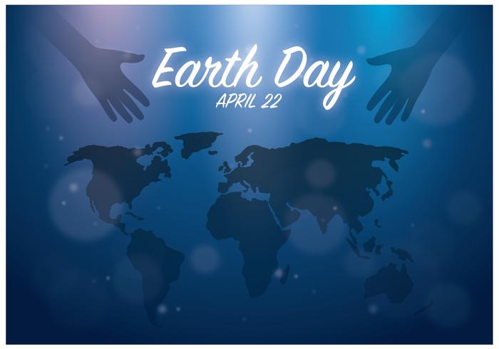 De Vrije Dag van de Aarde Achtergrond Vector