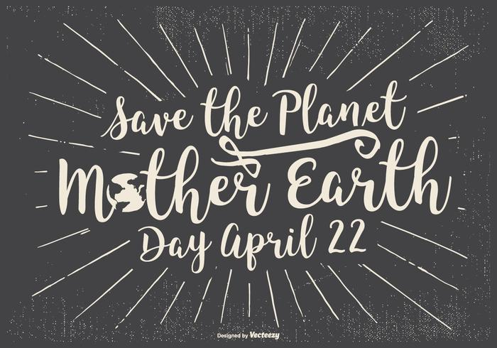 Typographic Earth Day Illustration