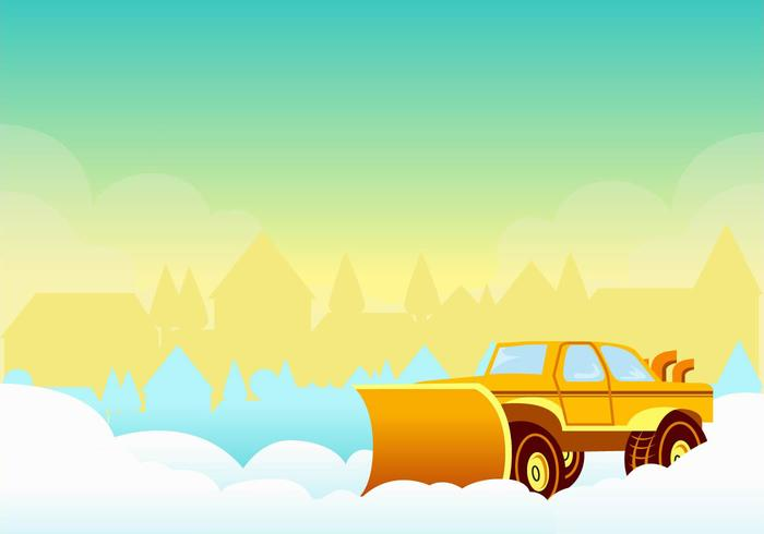 Snow Blower in the Sunset Vector