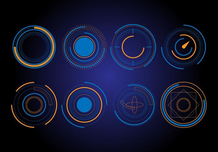 Gratis HUD cirkel vectorelementen