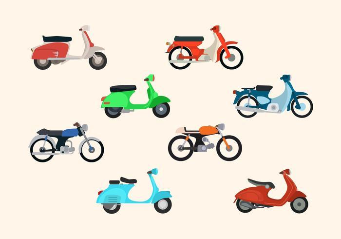Flat Motorcycle Vectors
