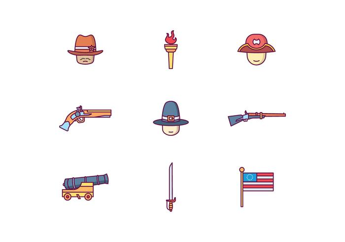 Colonial America Icons