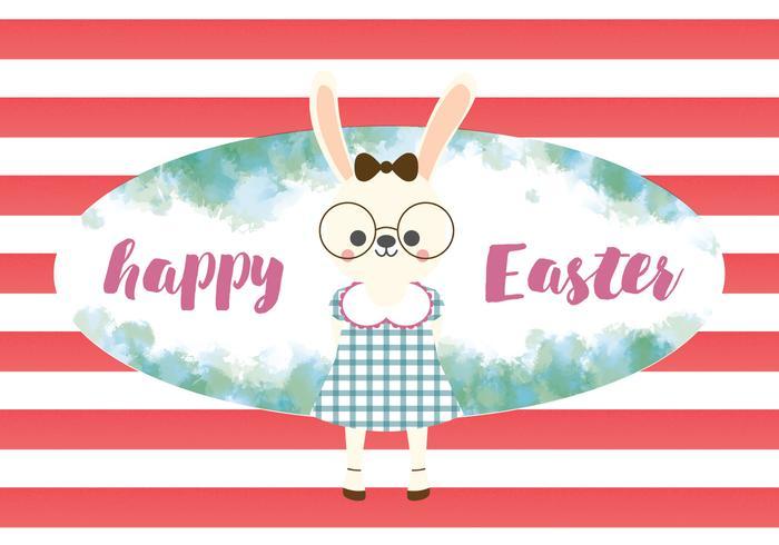 Happy Easter Cute Rabbit Vector