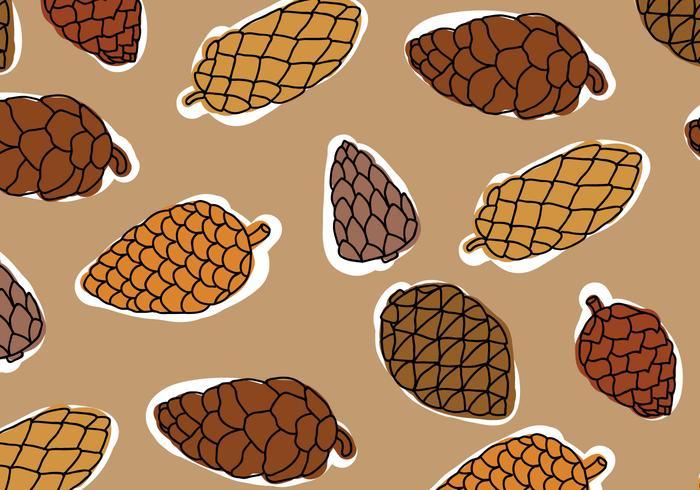 Brown Palette Pine Cones Pattern