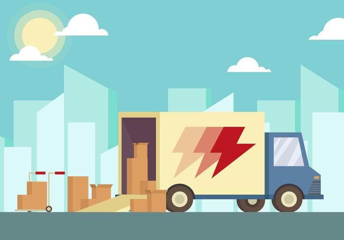 Moving Van Illustration Vector