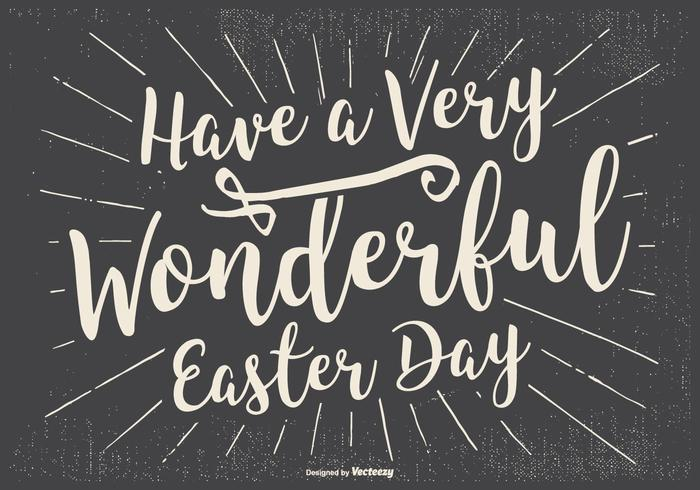 Typographic Happy Easter Illustration vector