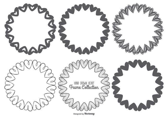 Leuke schetsmatige Hart Frames Collection