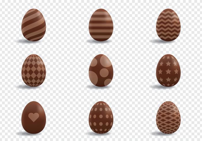 Ovos de chocolate Decoração