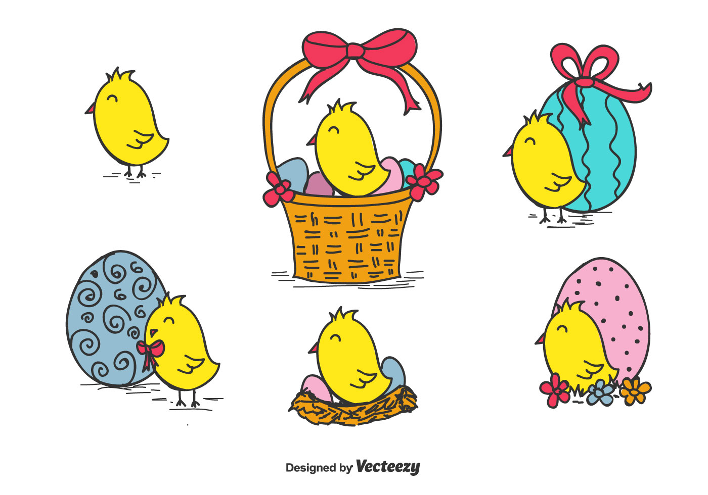Easter Chick Vector Download Free Vector Art Stock Graphics Images