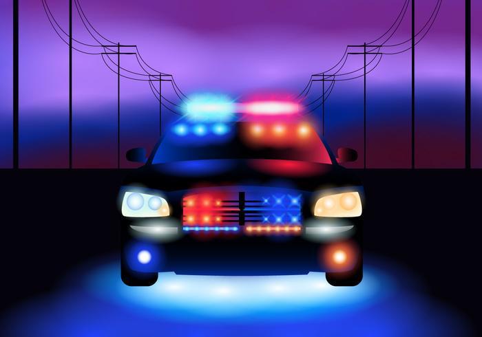 Politieauto 's nachts