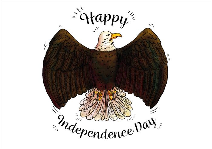 Aquarell Blag Adler Patriotisches Symbol Independence Day vektor