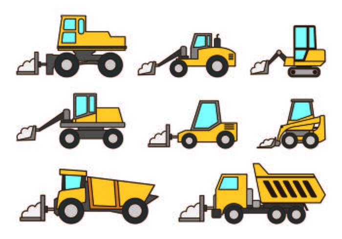 Set Snow Blower Icons