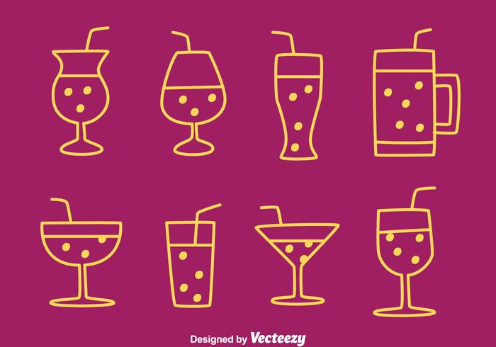 Fizz Drink Icons Vectors