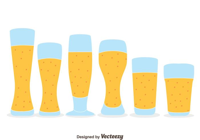Nice Beer Glasses Vectors