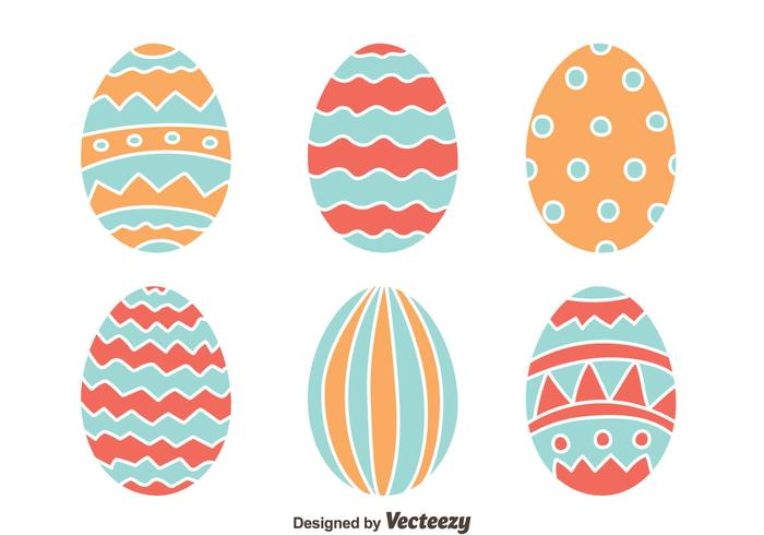 Easter Eggs Collection Vector
