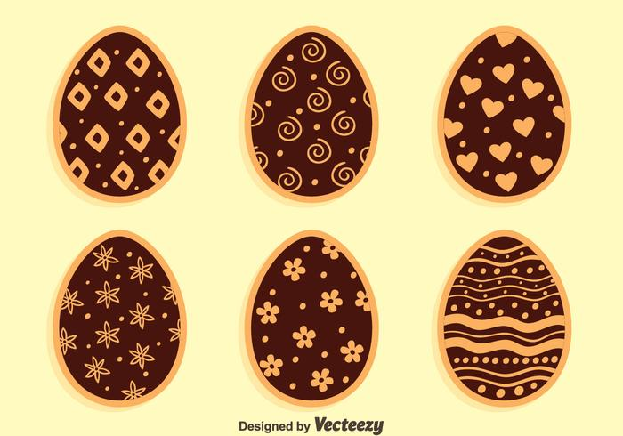 Chocolate Easter Eggs Collection Vector
